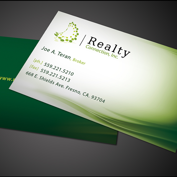 10 green business cards uprinting