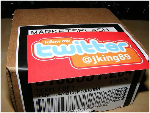 twitter follow me business card
