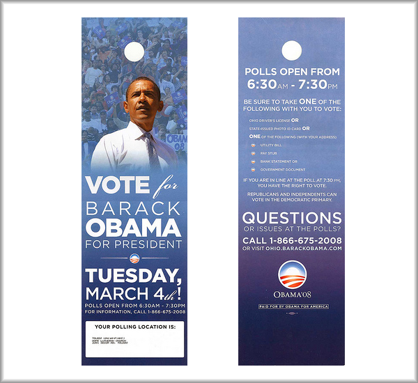 Door Hanger Printing Tips For Political Campaigns Uprinting