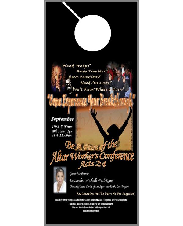Door Hanger Flyer Advertising for Churches – Does it Work?