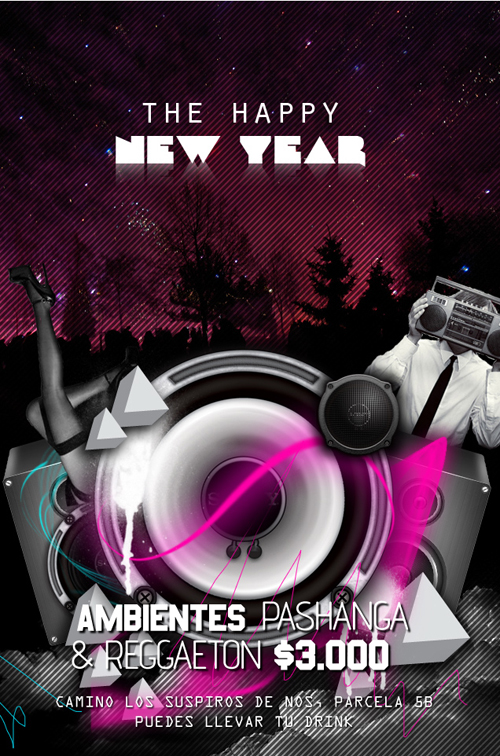 Night Club Flyer – The Happy New Year