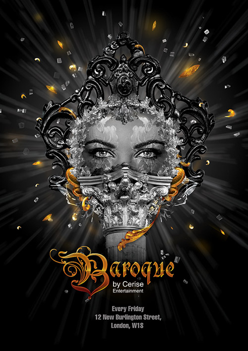 Night Club Flyer - Baroque