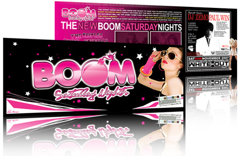 Night Club Flyer – The New Boom Saturday Nights