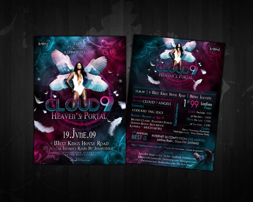 Night Club Flyer – Cloud 9 Heaven's Portal