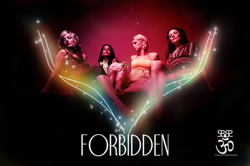 Night Club Flyer - Forbidden: Hollywood Party Flyers