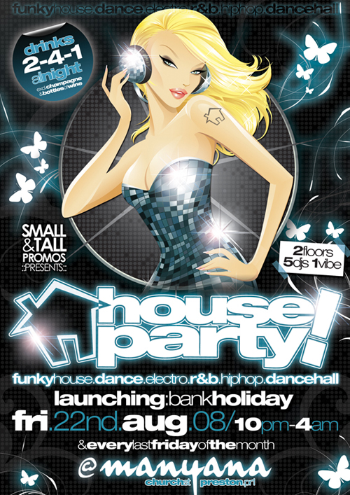 Night Club Flyer – Bank Holiday House Party