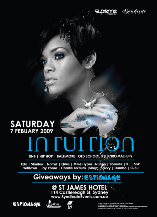 Night Club Flyer – Intuition