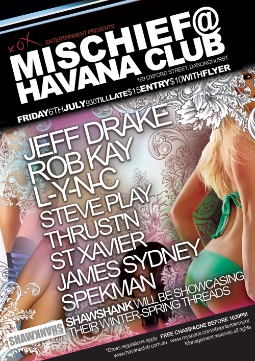 Night Club Flyer - Free Champagne at Havana Club