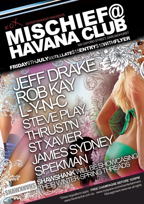 Night Club Flyer - Free Champagne at Havana Club