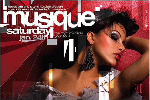 Night Club Flyer - Musique: Rhythm in Your Soul