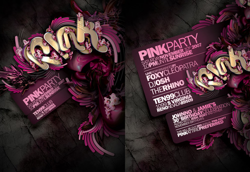 Night Club Flyer – Pink Party