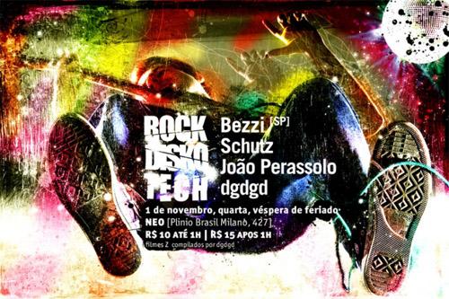Night Club Flyer - Rock, Disco, Tech; November