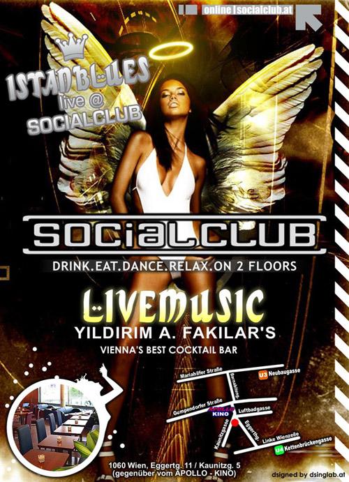 Night Club Flyer - Social Club Cocktail Bar