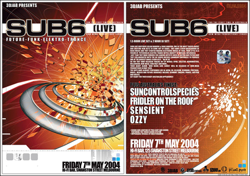 Night Club Flyer - Future, Punk, Elektro, Trance, Live