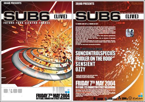 Night Club Flyer - Future, Punk, Elektro, Trance, Live