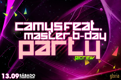 Night Club Flyer – Camysfeat Master B-day Party