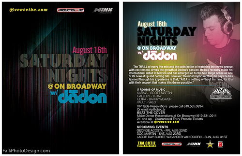 Night Club Flyer – Saturday Nights at Broadway