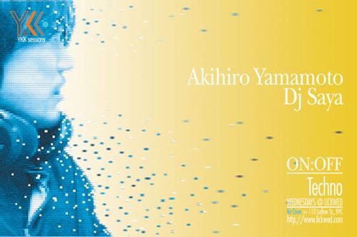 Night Club Flyer - Akihiro Yamamoto DJ Saya
