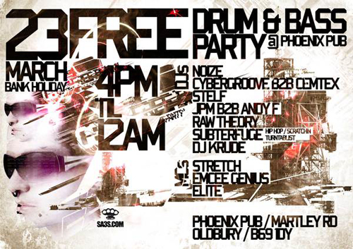 Night Club Flyer - Drum Bass Party
