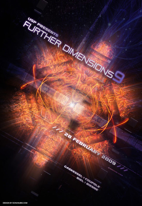 Night Club Flyer - Further Dimensions 9