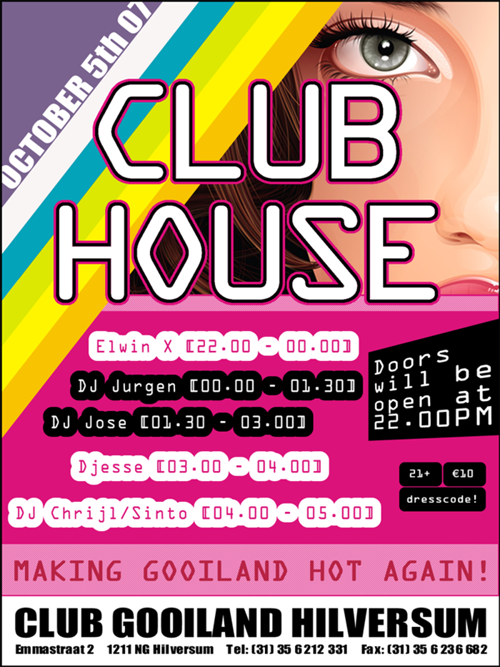 Night Club Flyer - Club HouseGooiland