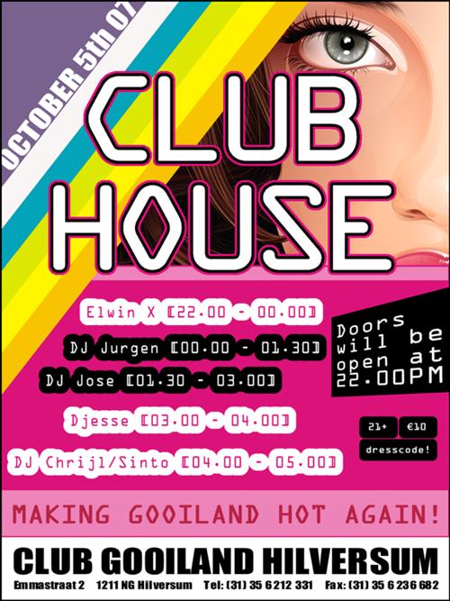Night Club Flyer - Club HouseGooiland