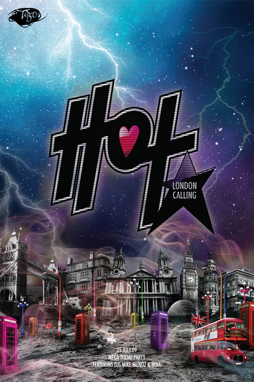 Night Club Flyer - Hot London