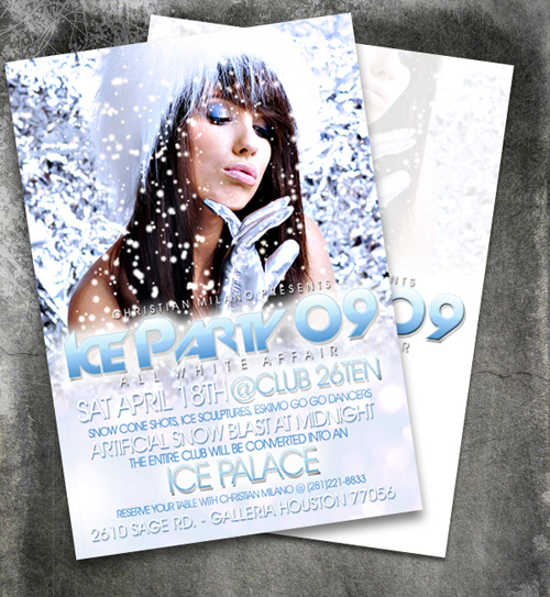 night club flyer ice party
