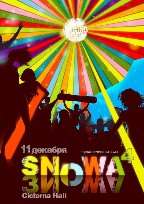 Night Club Flyer - Snow A4