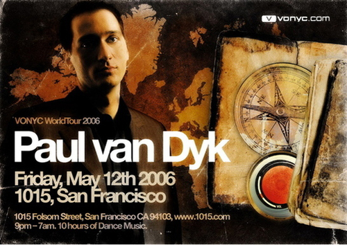 Night Club Flyer – Paul Van Dyk