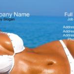 10 Tanning Salon Business Card Designs!