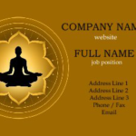 10 Yoga and Meditation Business Card Designs for Design Inspiration
