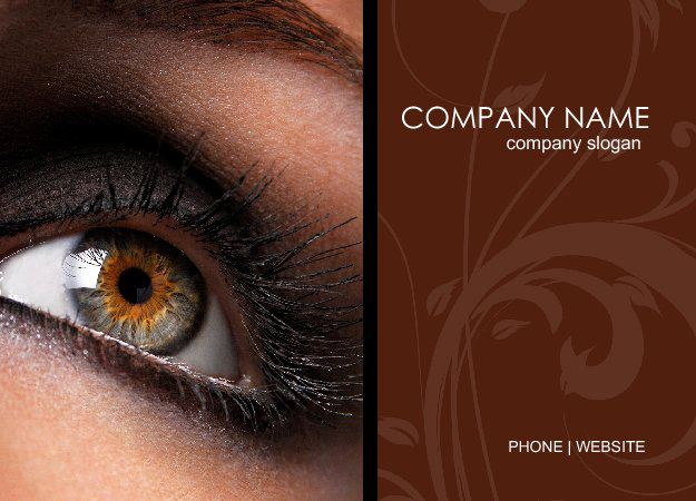 postcard designs for cosmetics services