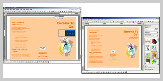 how to create a pamphlet on word