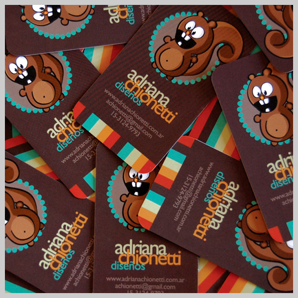 Brown Business Cards - Adriana Chionetti