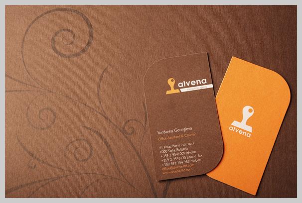 Brown Business Cards - Alvena