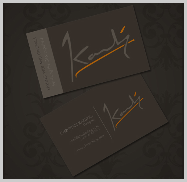 15 Classy Brown Business Card Designs