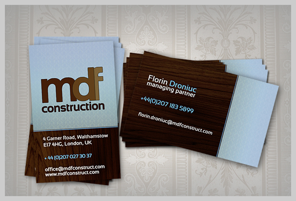 15 classy brown business card designs uprinting brown business cards mdf construction reheart Image collections