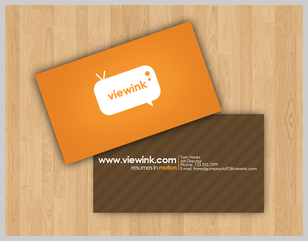 Brown Business Cards - ViewInk