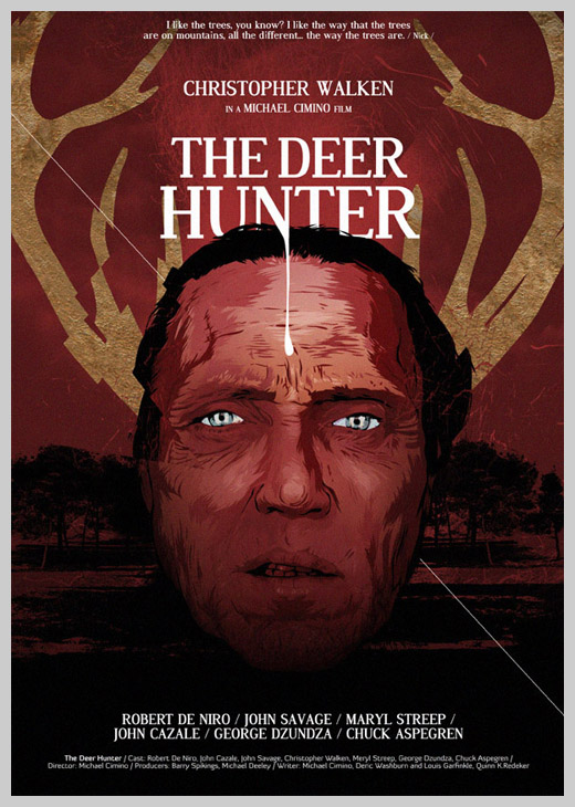 Custom Movie Poster Designs - The Deer Hunter