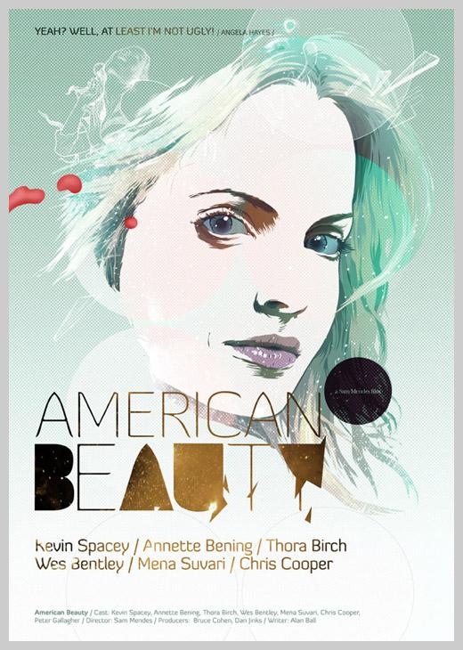Custom Movie Poster Designs - American Beauty