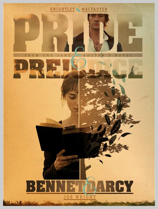 Custom Movie Poster Designs - Pride and Prejudice
