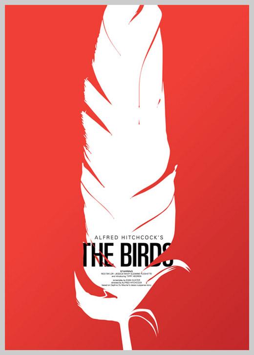 Custom Movie Poster Designs - The Birds