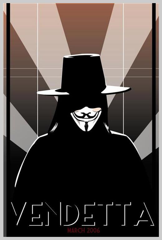 Custom Movie Poster Designs - V for Vendetta