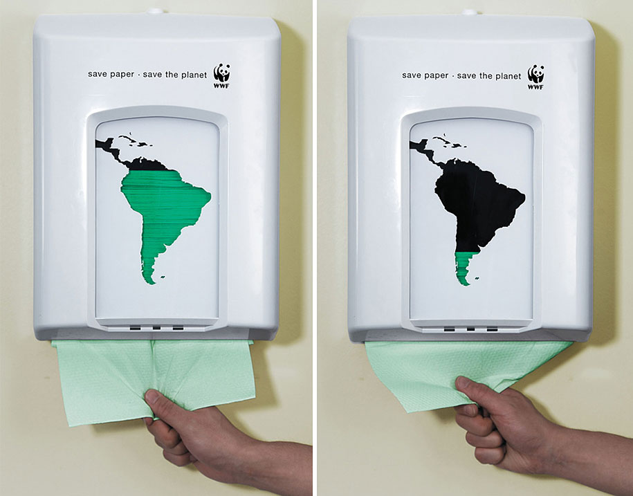 16 environmental awareness posters advertisements paper towels