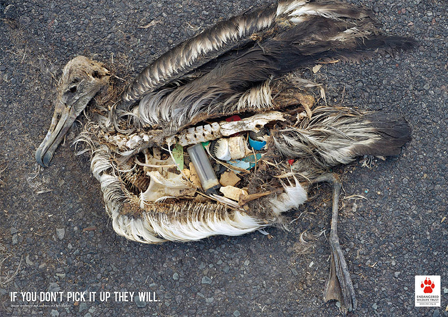 Environmental Awareness Posters and Advertisements - Sea Garbage