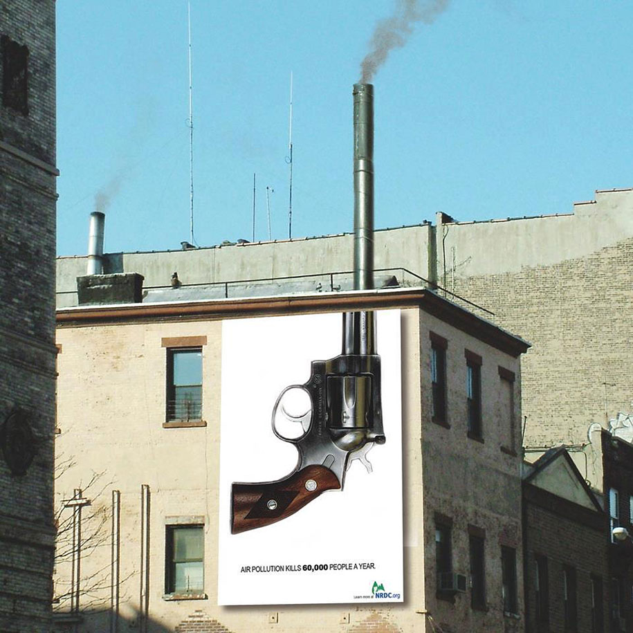 Environmental Awareness Posters and Advertisements - Air Pollution Kills 60,000 People a Year