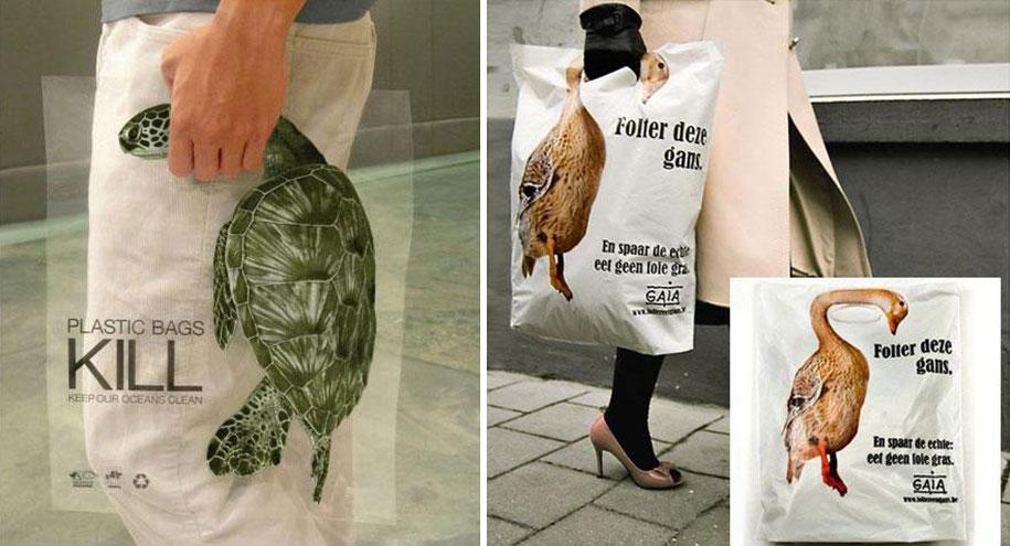 Environmental Awareness Posters and Advertisements - GAIA Plastic Bags