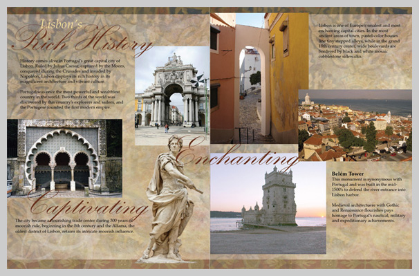 Travel Brochure Examples - Lisbon