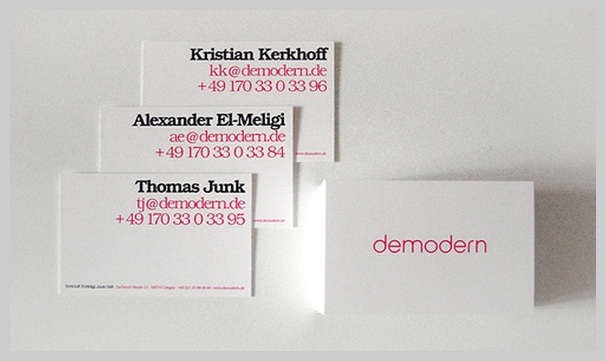 Pink Business Cards - demodern